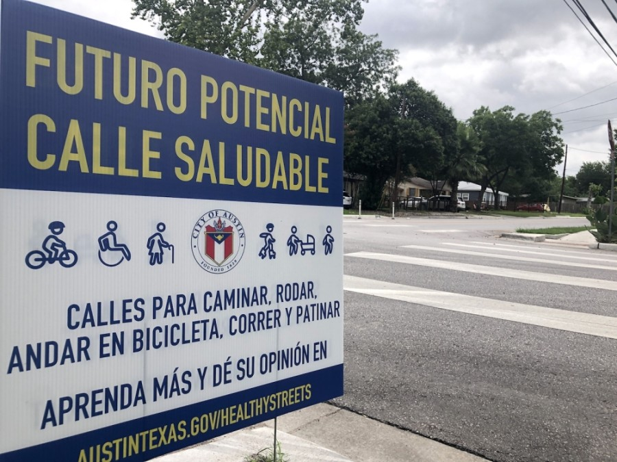 Austin is considering closing vehicle through traffic to encourage socially distanced outdoor exercise on a group of neighborhood streets, including Grover Avenue. (Jack Flagler/Community Impact Newspaper)