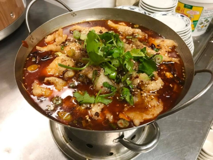 Lan Hai Asian Restaurant offers soups, meat dishes and seafood options, such as the fish filet in hot chili oil ($15). (Courtesy Lan Hai Asian Restaurant)