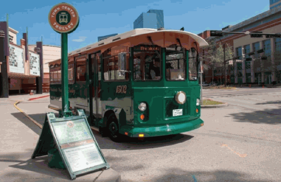 The Woodlands Township trolley service will resume July 1. (Courtesy The Woodlands Township/Community Impact Newspaper)