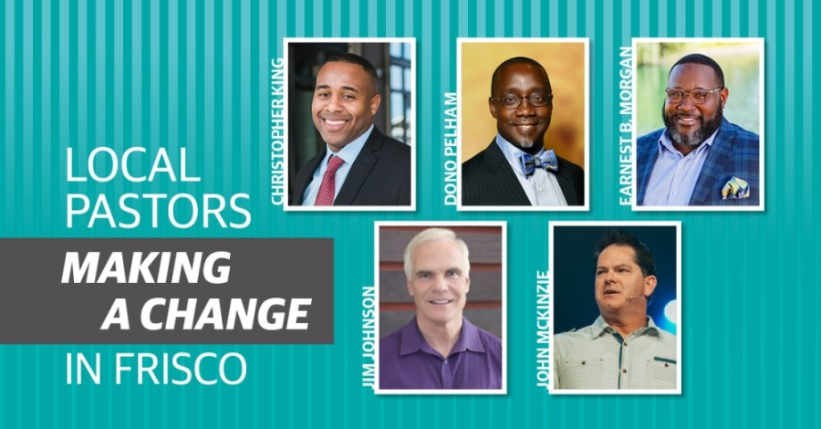 Five Frisco pastors explain how the community can come together to initiate change for the social injustices against the Black community. (Photos Courtesy Northbridge Church, Dono Pelham, Earnest B. Morgan, Jim Johnson, Hope Fellowship Church) (Cherry He/Community Impact Newspaper)