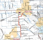 The project has been divided into two projects with a split from about north and south of West Ridge Creek. (Courtesy TxDOT)