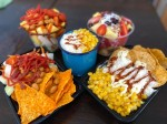 Customers have the option to mix their own snacks from a variety of options including corn, chips and salsas. (Courtesy Ceviches n' Snacks)