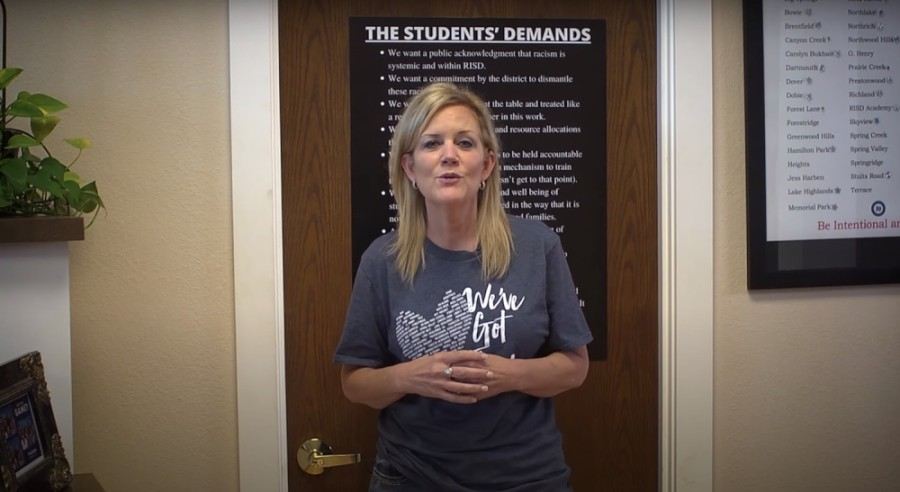 Superintendent Jeannie Stone addressed the demands via a June 28 video message. (Courtesy YouTube)