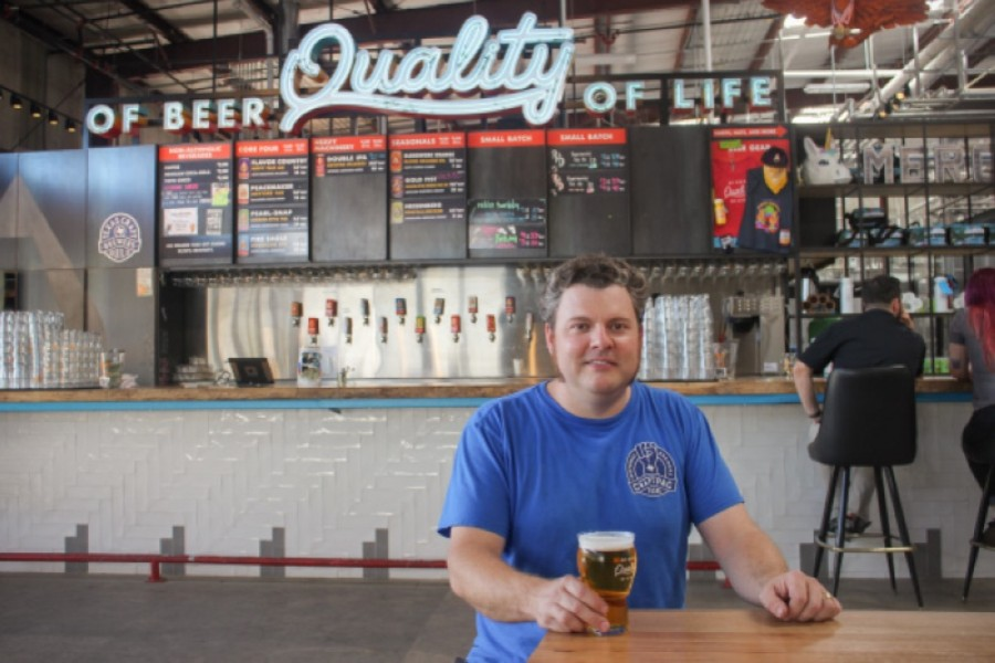 Adam DeBower, co-founder and director of Operations at Austin Beerworks
