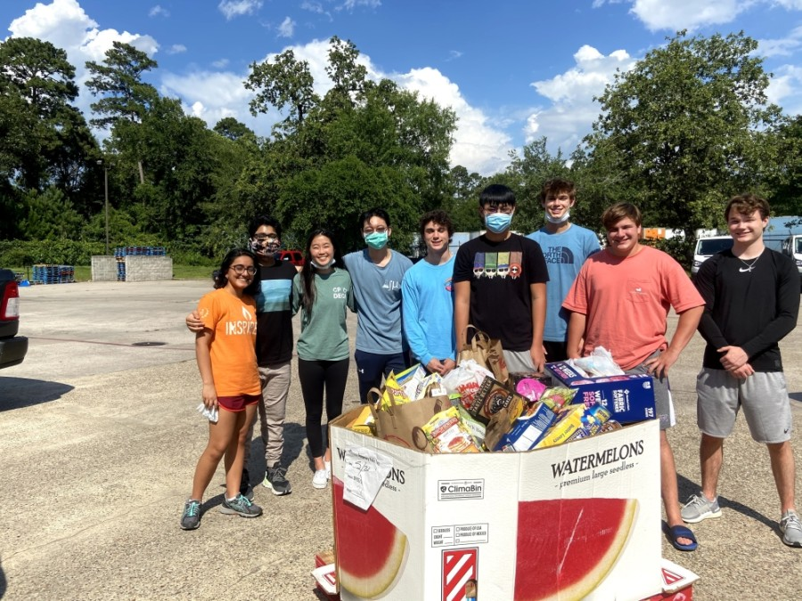Students in The Woodlands have donated over 10,000 pounds of food to the Montgomery County Food Bank. (Courtesy The Food Drive Initiative)
