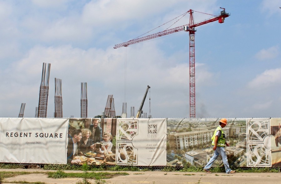 Regent Square, a mixed-use project near Allen Parkway, is one of dozens of projects in the pipeline inside the Loop. (Matt Dulin/Community Impact Newspaper)