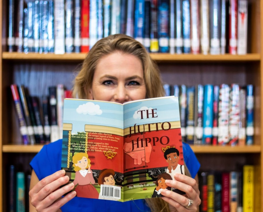 """Hutto has been a wonderful place for me and my family in many ways,"" author Wendy Larson said. ""Turning this poem into a book and publishing it, all while supporting local education, is a small way for me to celebrate our growing community."" (Courtesy Jillian Schuhl, Sweet Daisies Photography)"