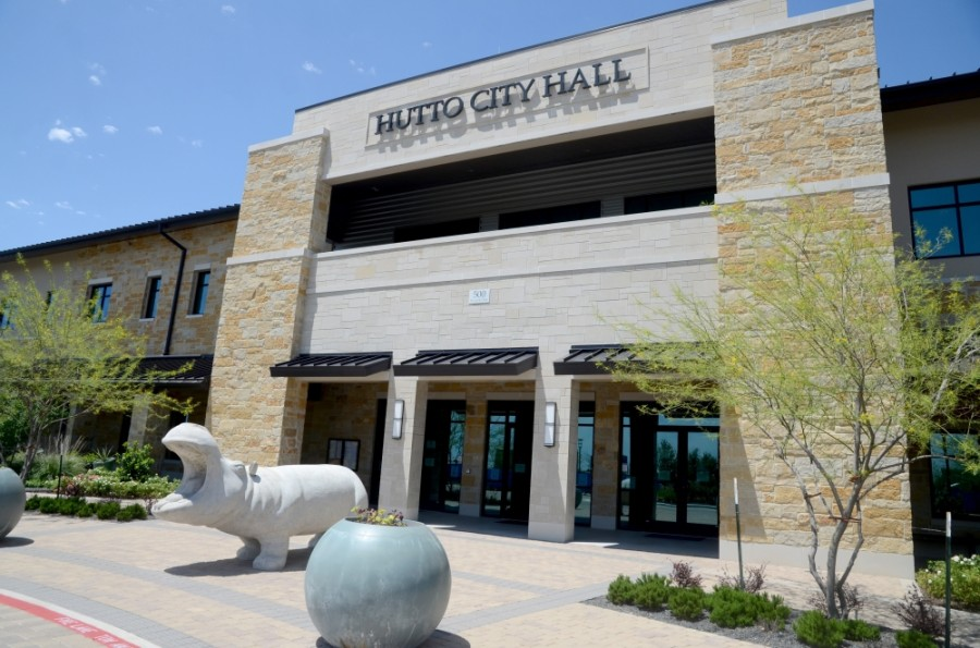 "Hutto City Hall will operate with reduced staff from July 7 through Aug. 28 in an effort to ""mitigate the spread of the coronavirus,"" city officials announced in a July 6 news release. (John Cox/Community Impact Newspaper)"