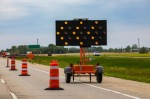 Overnight land closures on I-35 will be needed periodically in the next few months during the construction of the bridge piers and the placement of bridge beams. (Courtesy Adobe Stock)