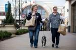 Women walking with shopping bags
