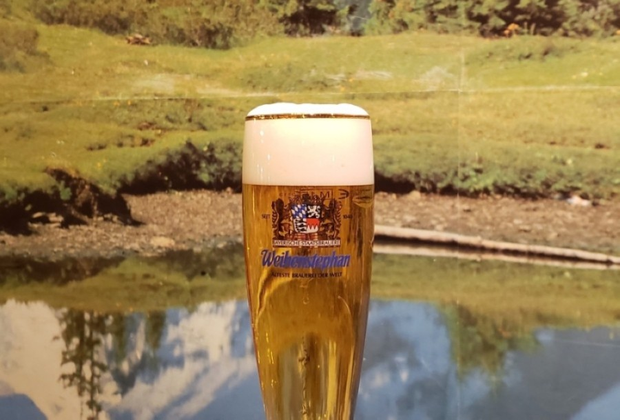 The Weihenstephaner Pils, a hoppy pale lager, is one of the German beers Bavarian Grill serves straight from the tap. (Courtesy Bavarian Grill)