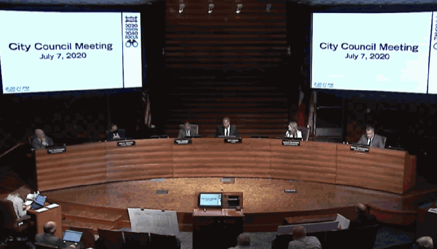Frisco City Council unanimously approved a request for a new 7-Eleven convenience store to sell alcohol, as the store had previously done when it was a Shell station for 18 years. (Screenshot courtesy city of Frisco)