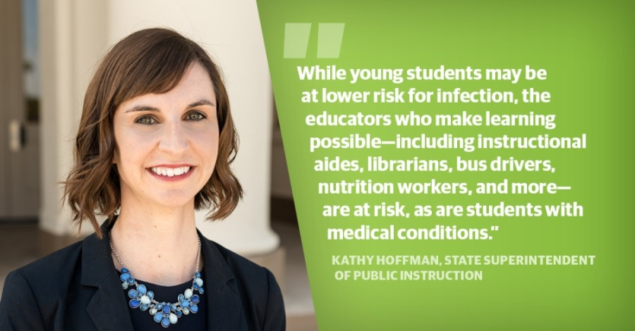 "Kathy Hoffman, state superintendent of public instruction, released a statement July 7 following a July 6 tweet from President Donald Trump stating Trump's belief that ""schools must open in the fall."" (Community Impact staff)"