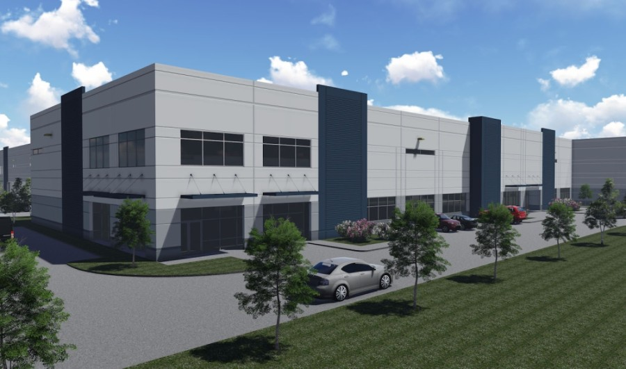 Stonemont Financial Group is building the McKinney Airport Center, which will feature two buildings of warehouse space. (Rendering courtesy Stonemont Financial Group)