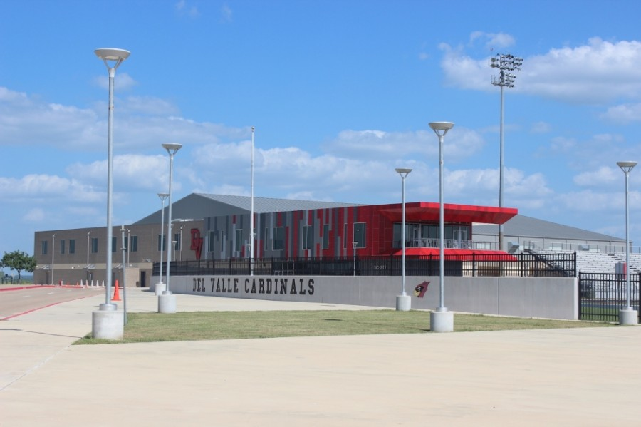 A photo of Del Valle ISD's Cardinal stadium