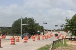 Road work continues at Robinson Road and I-45. (Ben Thompson/Community Impact Newspaper)
