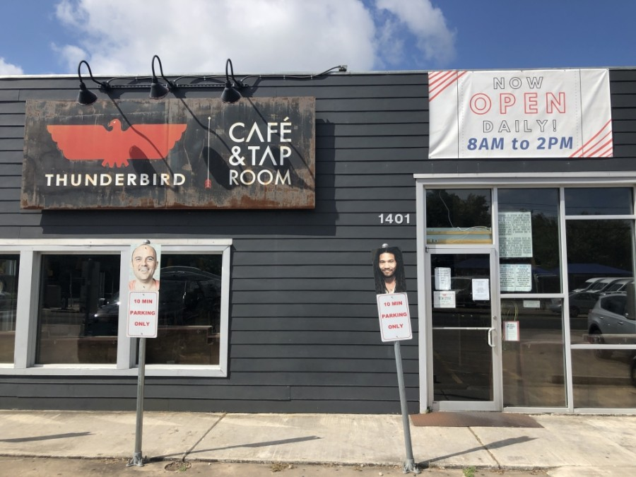 Thunderbird Coffee will close its Koenig Lane location July 26, and the spot will be redeveloped to become a new location of Bird Bird Biscuit, with a Thunderbird coffee trailer planned to operate on-site. (Jack Flagler/Community Impact Newspaper)