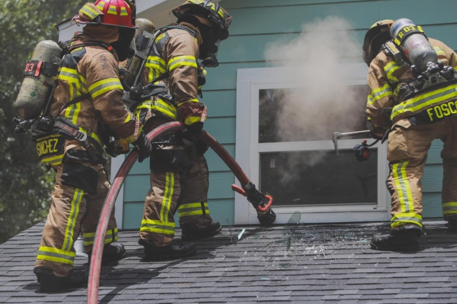 Members of the Cy-Fair Fire Department respond to a call in early July. (Courtesy Cy-Fair Fire Department)