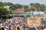 Thousands marched from Huston-Tillotson University to the Texas Capitol on June 7 to protest police brutality and systemic racism. (Christopher Neely/Community Impact Newspaper)