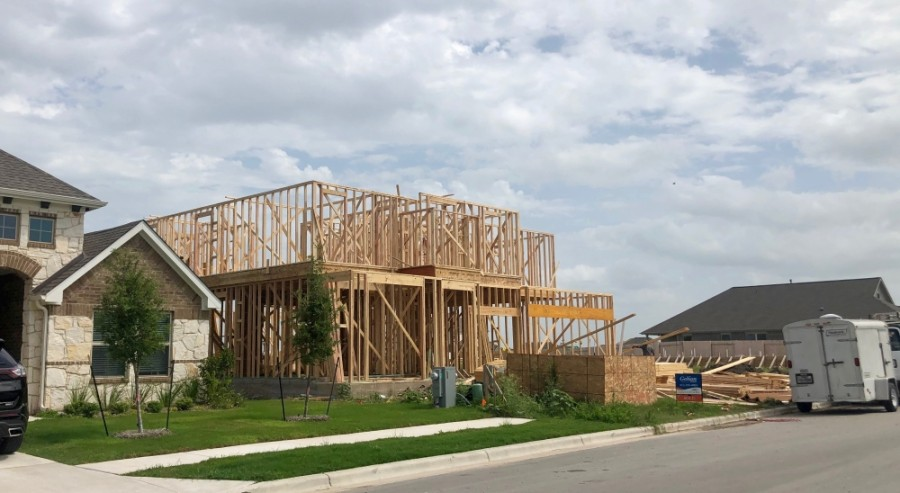 Hundreds of new homes are being built in San Marcos, Kyle and Buda. (Evelin Garcia/ Community Impact Newspaper)