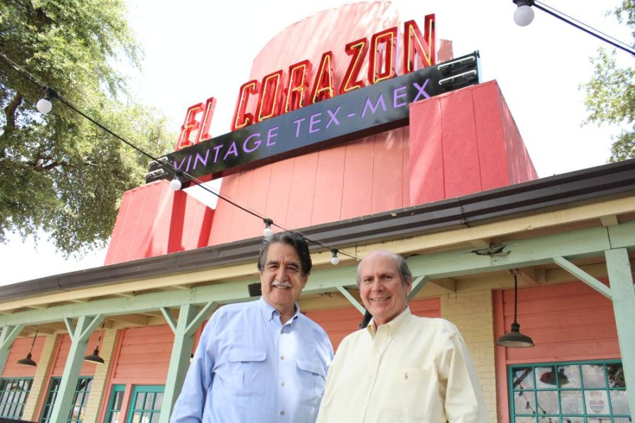 Gilbert Cuellar, right, is opening a new restaurant in the former location of El Corazon Tex Mex. The new restaurant, Texana Grill, will feature fare from the Texas Hill Country. (Emily Davis/Community Impact Newspaper)