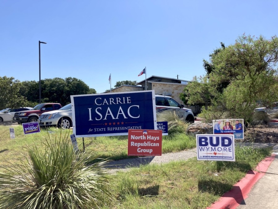 "In Hays County, Carrie Isaac and Kent ""Bud"" Wymore square off in a runoff election for the District 45 Republican nomination. (Travis Baker/Community Impact Newspaper)"