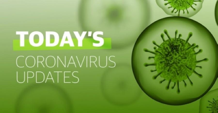 "A graphic reading ""Today's coronavirus updates)"