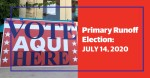 Polls closed at 7 p.m. July 14 in Texas' primary runoff election. Delia Garza and Laurie Eiserloh are running in the Democratic race for Travis County Attorney. (Design by Shelby Savage/Community Impact Newspaper)