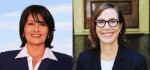 Penny Morales Shaw (left) and Rep. Anna Eastman (right) are facing off for the third time since November 2019 for the Texas House District 148 representing parts of North Houston and the Heights. (Courtesy photos)