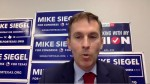 Candidate Mike Siegel declared victory over opponent Pritesh Gandhi during a Zoom call with media July 14. (Screenshot via Zoom)