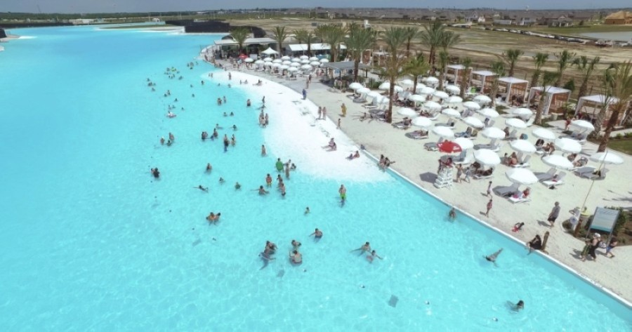 Crystal Lagoon opened for resident use in early June, and public access is available July 15-Sept. 13. (Courtesy of Lago Mar)