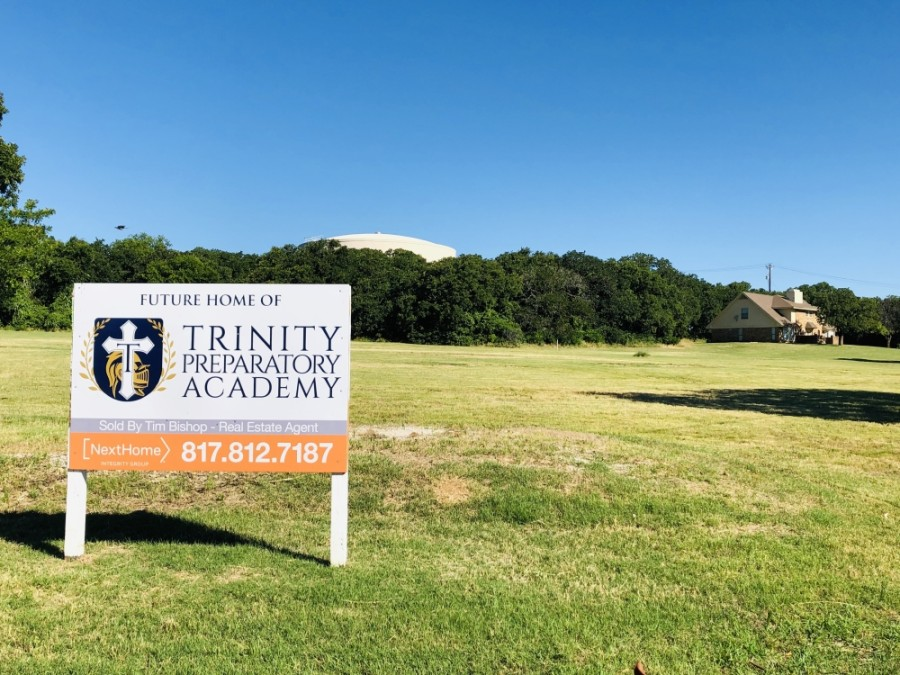 Trinity Preparatory Academy will relocate to a new facility at the intersection of Timberland Boulevard and North Caylor Road for the 2021-22 school year. (Ian Pribanic/Community Impact Newspaper)