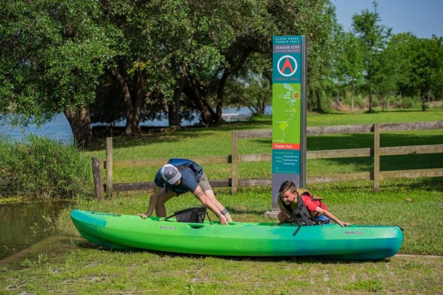 League City kayak canoe boat launch ramp stock image photo
