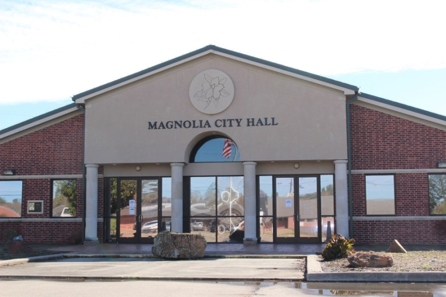 Magnolia City Council voted to rezone 55.5 acres of land out of the Unity Plaza zoning district July 14. (Anna Lotz/Community Impact Newspaper)