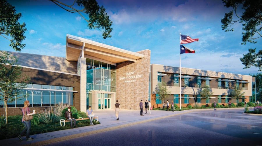 The CATE Center is getting a $8.98 million renovation and expansion to be the home for Quest Early College High School students.(Courtesy Humble ISD)