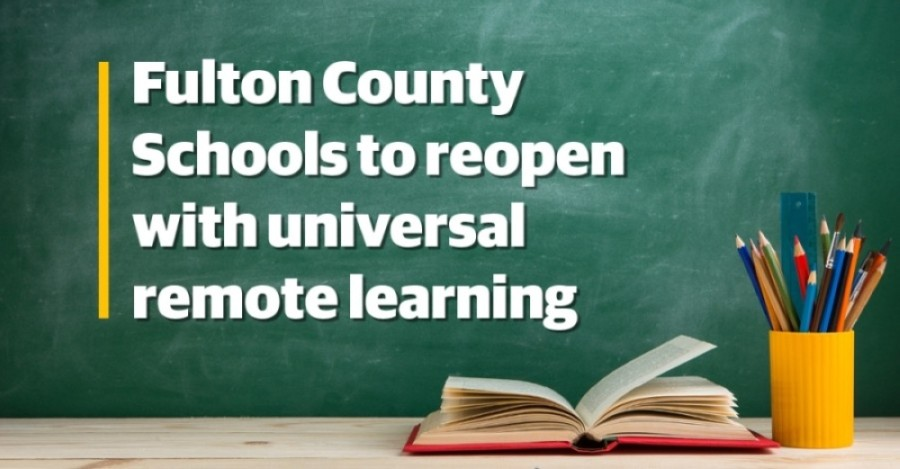 After presenting extensive reopening plans for either in-person or individual remote learning, Fulton County Schools Superintendent Mike Looney pivoted the district's reopening strategy to universal remote learning. (Designed by Isabella Short)