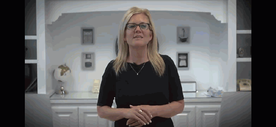 Superintendent Jeannie Stone announced in a July 16 video message that the district would begin virtual learning August 19. (Screenshot courtesy Youtube)