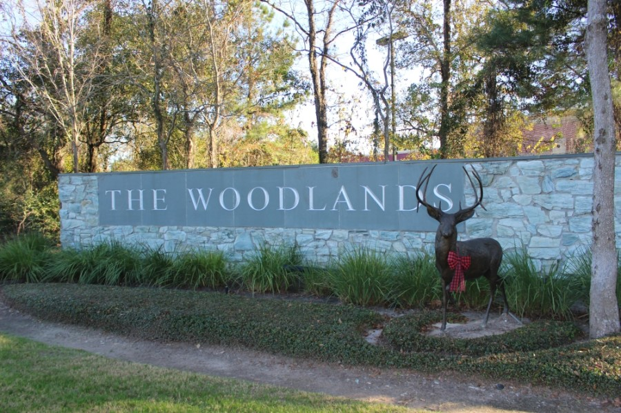 The Woodlands Township entrance