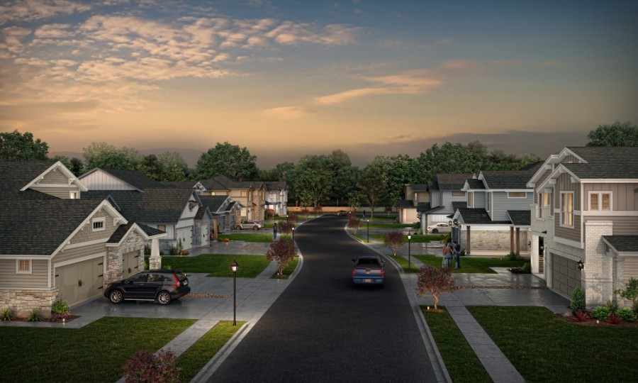The community will include 118 homes once complete. (Rendering courtesy Empire Communities)