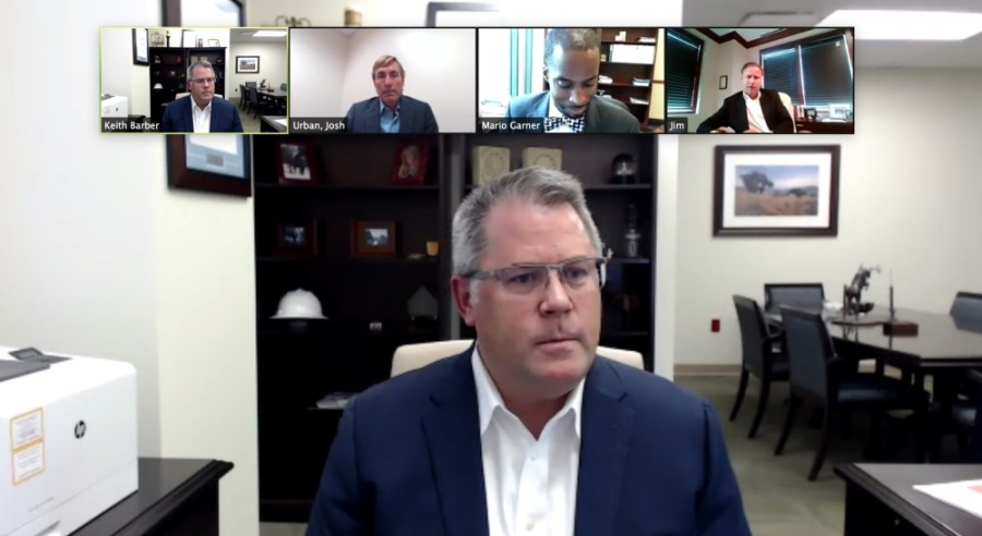 Keith Barber, CEO of the Houston Methodist Willowbrook Hospital, moderated a discussion of local health care leaders hosted July 21 by the Cy-Fair Houston Chamber of Commerce. (Screenshot courtesy Zoom)