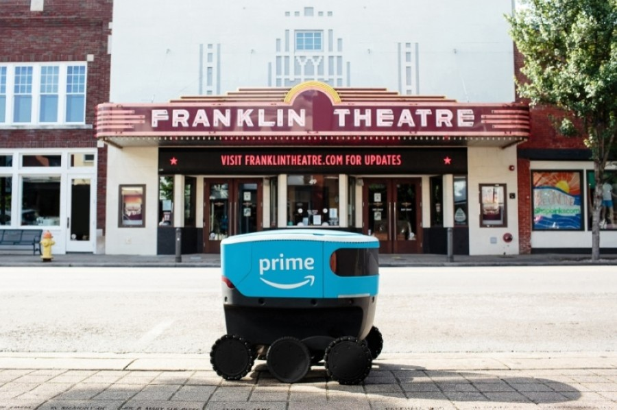 Amazon announced plans to launch a field test of Amazon Scout, its new electric autonomous delivery robots, in Franklin on July 21. (Courtesy Amazon)