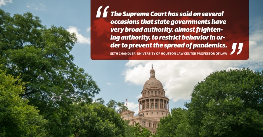 Many government orders implemented in Texas this year were built on stable legal footing, according to Seth Chandler, a law professor at the University of Houston. (Community Impact staff)
