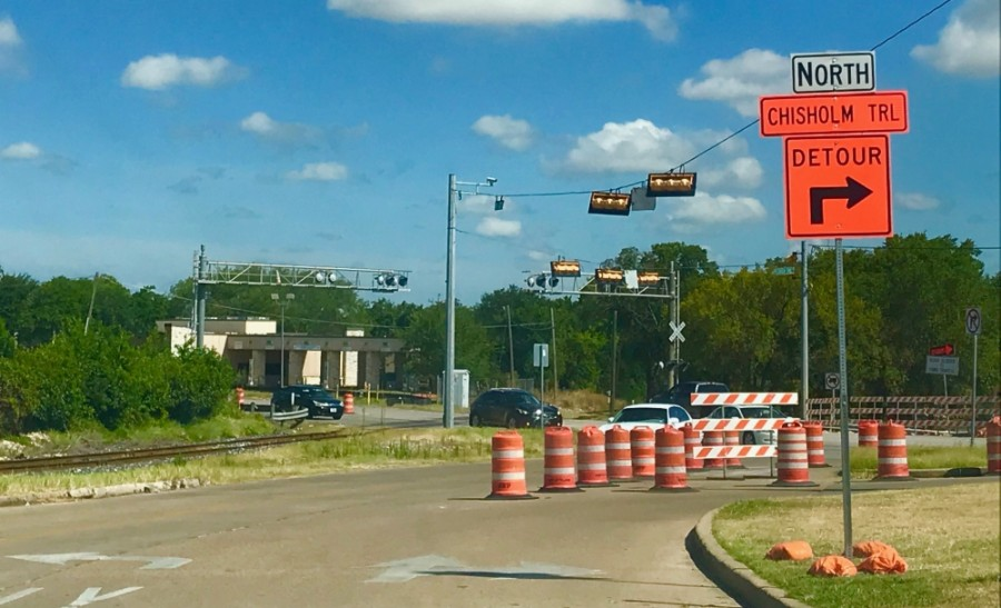 Drivers should expect a detour due to scheduled construction. (Kelsey Thompson/Community Impact Newspaper)