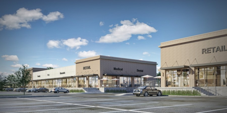 The Kingwood Docks shopping center will be completed in the next 30-60 days. (Rendering courtesy Lovett Commercial)
