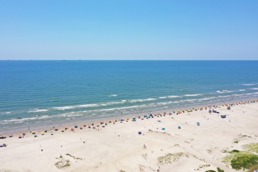 Galveston Island beach, Gulf of Mexico, Galveston Bay