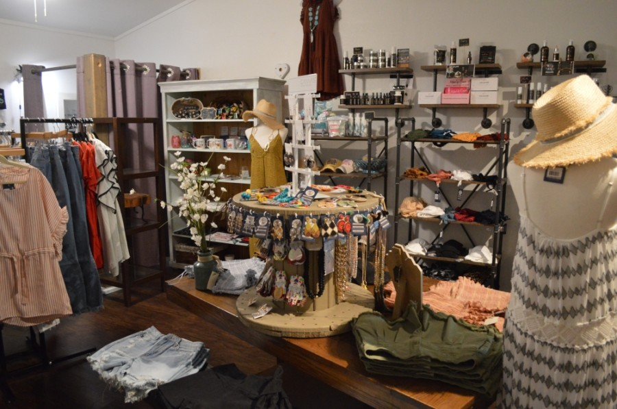 The boutique offers clothing, gifts and cannabidiol products.  (Taylor Girtman/Community Impact Newspaper)