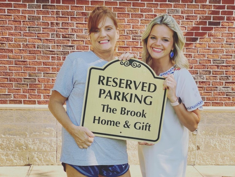 Chrissy Hignett (left) and Ally Haygood opened The Brook Home & Gift on June 18 on Barker Cypress Road in Cypress. (Courtesy The Brook Home & Gift)