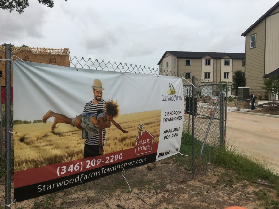 Work continued on Starwood Farms on Telge Road in Cypress in June. With resident move-ins planned to begin Aug. 1, developers said leasing activity has been slower than expected. (Shawn Arrajj/Community Impact Newspaper)