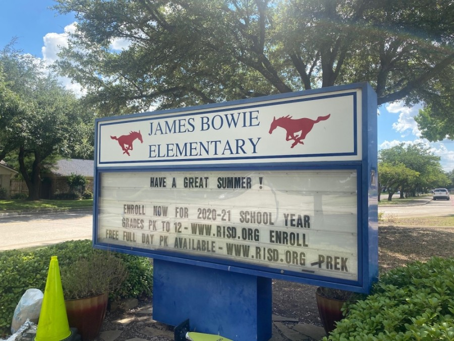 The district is considering a name change for Bowie Elementary School, which is named after James Bowie, a slave trader and soldier, according to the Briscoe Center for American History. (Makenzie Plusnick/Community Impact Newspaper)