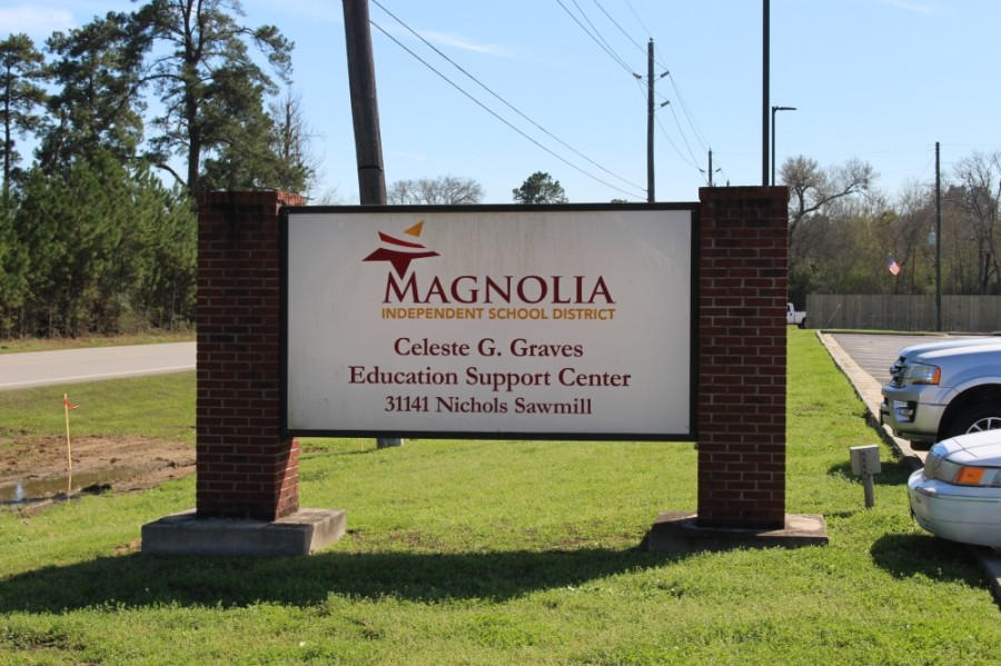 Erich Morris, assistant superintendent of operations for Magnolia ISD, proposed a balanced FY 2020-21 budget at a July 20 budget workshop. (Dylan Sherman/Community Impact Newspaper)
